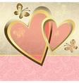 Delicate valentine frame vector image vector image