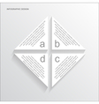 paper triangle infographic vector image
