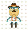 Robot hipster style vector image