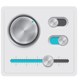 metal dials set vector image