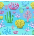 Underwater Seamless pattern of sea Corals vector image vector image