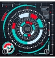Futuristic user interface elements set HUD vector image