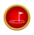 Golf game icon simple style vector image vector image