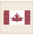 flag of canada red maple leaf grunge design vector image