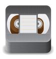 Icon for video cassette vector image