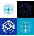 Blue circle signal waves Generate sound or radar vector image