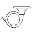 cornet icon  outline style vector image