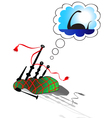 dream of bagpipes vector image