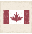 flag of canada red maple leaf grunge design vector image