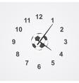 football clock vector image