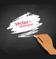 hand drawing speech bubble with chalk vector image