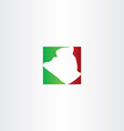 logo icon algeria map vector image