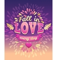 Romantic lettering Happy valentines day card vector image