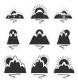 set of logos with mountains vector image