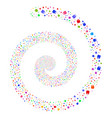 tooth fireworks spiral vector image