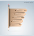 Info graphic with brown pencil and directional vector image vector image