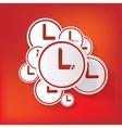 Clock web icon button vector image