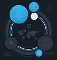abstract circle info graphics vector image
