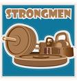 strongman jeans vector image