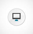 pc icon 2 colored vector image