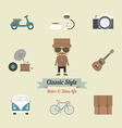113hipster life vector image vector image