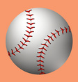 Plain baseball on orange background vector image