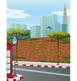 Street corner in the city vector image vector image