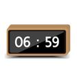 wood clock vector image