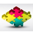 Puzzle Jigsaw 3d vector image vector image