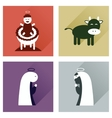 Concept of flat icons with long shadow Christmas vector image
