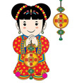 chinese cartoons vector image