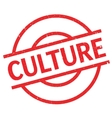 Culture rubber stamp vector image