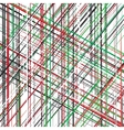 Diagonal red green black white overlapping vector image