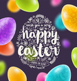 Easter multicolored greeting card vector image