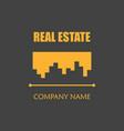 modern real estate logo template creative home vector image