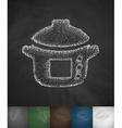 pressure cooker icon vector image