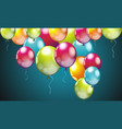 realistic colorful birthday balloons flying for vector image
