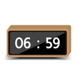 wood clock vector image