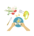 Child In Cooking Class With Only vector image