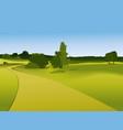 Rural landscape vector image vector image