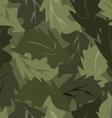 seamless background dark leaves vector image