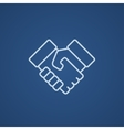 Handshake and successful real estate transaction vector image