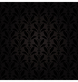 thistle pattern black vector image vector image