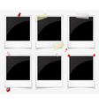 Empty polaroid photo frames vector image