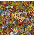 Art hand lettering and doodles elements background vector image