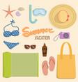 summer vacation set vector image