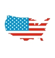 USA map flag icon vector image