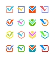 Check vote icon button vector image vector image