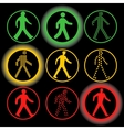 Isolated traffic lights elements logo set vector image