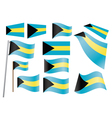 flag of the Bahamas vector image vector image